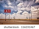 cafe sign along historic route... | Shutterstock . vector #116231467
