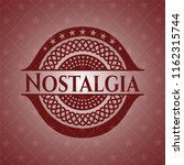 nostalgia badge with red... | Shutterstock .eps vector #1162315744