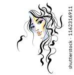 vector  stylish  original hand... | Shutterstock .eps vector #1162316911
