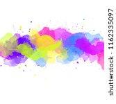 multicolored splash watercolor... | Shutterstock . vector #1162335097