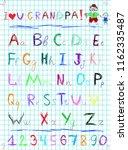 multicolored baby sketch hand... | Shutterstock .eps vector #1162335487