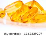 close up vitamin d and omega 3... | Shutterstock . vector #1162339207