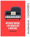 without music  life would be a... | Shutterstock .eps vector #1162343851