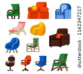 chair vector comfortable... | Shutterstock .eps vector #1162347217