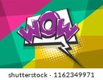 wow amazing magic comic text... | Shutterstock .eps vector #1162349971