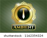 gold emblem or badge with... | Shutterstock .eps vector #1162354324