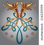 abstract celtic design for your ... | Shutterstock .eps vector #116235559