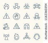 hazard line icons | Shutterstock .eps vector #1162360354