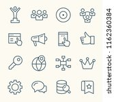 internet marketing line icons | Shutterstock .eps vector #1162360384