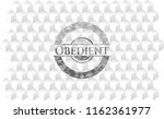 obedient realistic grey emblem... | Shutterstock .eps vector #1162361977