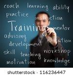 Business Man Writing Training...