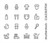 baby icons with white... | Shutterstock .eps vector #1162365934