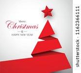 christmas tree origami vector | Shutterstock .eps vector #1162366111