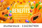 orange diet food vitamins in... | Shutterstock .eps vector #1162367404