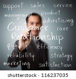 business man writing customer... | Shutterstock . vector #116237035