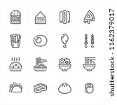 fast food icons with white... | Shutterstock .eps vector #1162379017