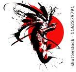 beautiful samurai girl with a... | Shutterstock .eps vector #1162379791