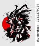 beautiful samurai girls with... | Shutterstock .eps vector #1162379794