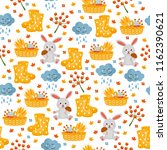cute childish seamless pattern. ... | Shutterstock .eps vector #1162390621