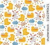 cute childish seamless pattern. ... | Shutterstock .eps vector #1162390621
