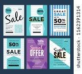 sale and discount flyer set.... | Shutterstock .eps vector #1162391314