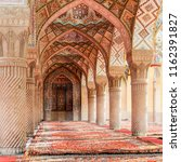 arabic arches and ornaments in... | Shutterstock . vector #1162391827