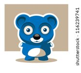 blue bear | Shutterstock .eps vector #116239741