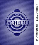 bachelor emblem with jean high... | Shutterstock .eps vector #1162398814