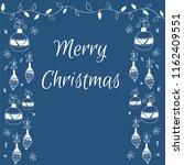 merry christmas doodle hand...   Shutterstock .eps vector #1162409551