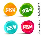 new labels in colorful round... | Shutterstock .eps vector #1162420117