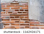 old vintage red brick wall with ...   Shutterstock . vector #1162426171