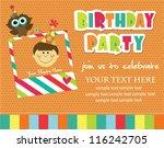 kid invitation card design.... | Shutterstock .eps vector #116242705