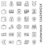 thin line vector icon set  ...   Shutterstock .eps vector #1162434214