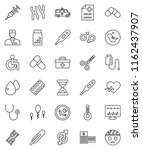thin line vector icon set  ... | Shutterstock .eps vector #1162437907
