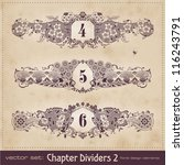vintage chapter dividers   set 2 | Shutterstock .eps vector #116243791
