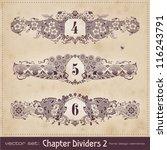 vintage chapter dividers   set 2   Shutterstock .eps vector #116243791