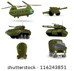 set of military vehicles.... | Shutterstock .eps vector #116243851