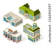 school buildings. isometric 3d... | Shutterstock .eps vector #1162441597