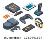 video game console and... | Shutterstock .eps vector #1162441834