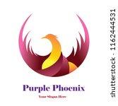 purple phoenix template logo... | Shutterstock .eps vector #1162444531