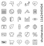 thin line vector icon set  ... | Shutterstock .eps vector #1162445404
