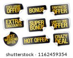 sale stickers set   fantastic... | Shutterstock .eps vector #1162459354