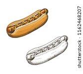 oktoberfest set of hand drawn... | Shutterstock .eps vector #1162468207