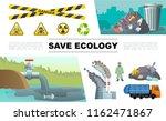 flat ecology pollution... | Shutterstock .eps vector #1162471867