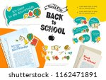 flat back to school infographic ... | Shutterstock .eps vector #1162471891