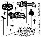 halloween party card  banner ... | Shutterstock .eps vector #1162473364