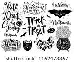 set of halloween elements ... | Shutterstock .eps vector #1162473367