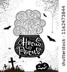 halloween party card  banner ... | Shutterstock .eps vector #1162473844