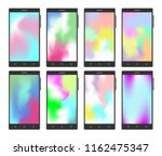 vector mobile phone set with... | Shutterstock .eps vector #1162475347