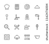 collection of 16 cook outline... | Shutterstock .eps vector #1162476004